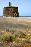 Lanzarote castillo de las coloradas  the old wall castle Royalty Free Stock Images