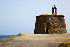 Lanzarote castillo de las coloradas spain Stock Photography