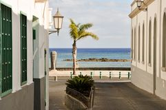 Lanzarote - charmful street Royalty Free Stock Image