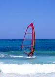 Lanzarote che Windsurfing Immagini Stock Libere da Diritti