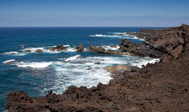 Lanzarote coastline Royalty Free Stock Photo