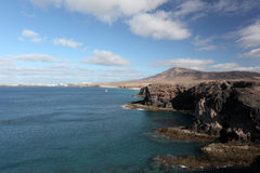 Lanzarote Coastline Royalty Free Stock Photos