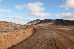 Lanzarote country road Royalty Free Stock Images