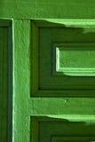Lanzarote deur houten groen Spanje Stock Foto's