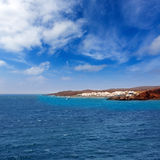 Lanzarote El Golfo Atlantic ocean cityscape Royalty Free Stock Photos