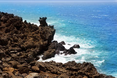 Lanzarote El golfo Atlantic ocean volcanic shore Stock Images