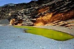 Lanzarote El Golfo Lago de los Clicos Royalty Free Stock Image