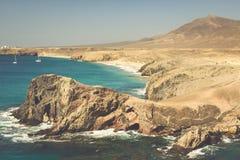 Lanzarote El Papagayo Playa Beach in Canary Islands Stock Photos