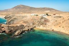 Lanzarote El Papagayo Playa Beach in Canary Islands Stock Photography