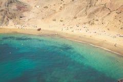 Lanzarote El Papagayo Playa Beach in Canary Islands Stock Images