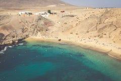 Lanzarote El Papagayo Playa Beach in Canary Islands Royalty Free Stock Image
