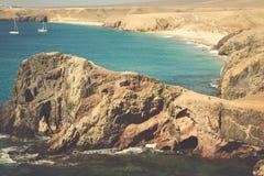 Lanzarote El Papagayo Playa Beach in Canary Islands Stock Photo