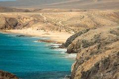 Lanzarote El Papagayo Playa Beach in Canary Islands Royalty Free Stock Photo