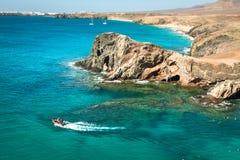 Lanzarote El Papagayo Playa Beach in Canary Islands Royalty Free Stock Photos