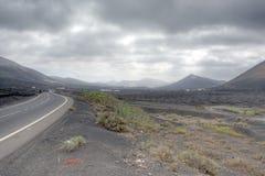Lanzarote-Felder Lizenzfreie Stockfotos