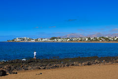 Lanzarote har många och härliga stränder Royaltyfria Bilder