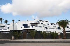Lanzarote huizen royalty-vrije stock fotografie