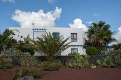 Lanzarote huizen royalty-vrije stock foto's