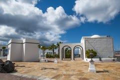 Lanzarote huizen royalty-vrije stock afbeeldingen