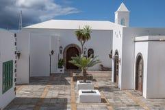 Lanzarote huizen stock afbeelding