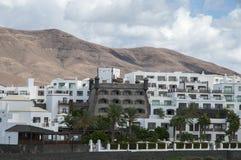 Lanzarote huizen stock foto