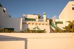 Lanzarote huizen stock fotografie