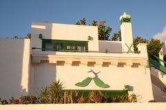 Lanzarote huizen stock foto's