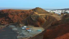 Lanzarote island Atlantic stock footage