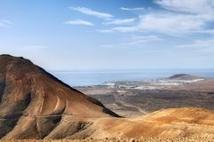 Lanzarote Island landscape Royalty Free Stock Photo
