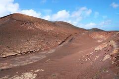 Lanzarote jak Mars Czerwone góry i ziemia Lanzarote które pamięta Czerwoną planetę obraz royalty free