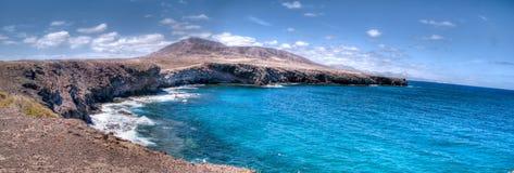 Lanzarote kustlandschap in los ajaches Royalty-vrije Stock Fotografie