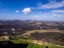 Lanzarote - La Geria and Montanas del Fuego Royalty Free Stock Photography
