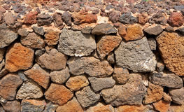 Lanzarote La Guatiza masonry with volcanic stones Stock Photography