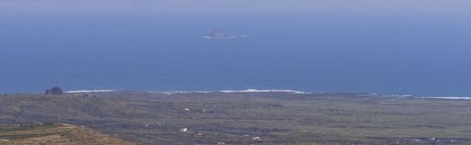 Lanzarote landscapes with Ocean Royalty Free Stock Photo