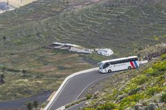 Lanzarote landscapes with road Stock Photo