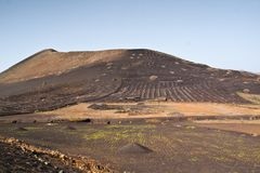Lanzarote-Landschaft Lizenzfreie Stockfotos
