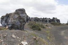 Lanzarote landschap Stock Afbeeldingen