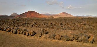 Lanzarote landschap Stock Afbeelding