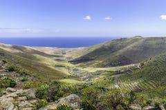 Lanzarote landskap Arkivbild