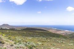Lanzarote landskap Arkivfoto