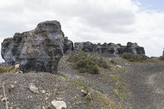 Lanzarote landskap Arkivbilder
