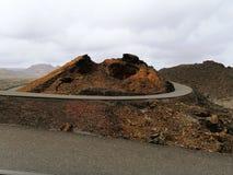 Volcano of Lanzarote royalty free stock photos