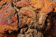 Lanzarote lava stone red rusty color texture Stock Photography