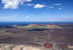 Lanzarote - Look from the Montana de la Cinta to northwest Royalty Free Stock Photos