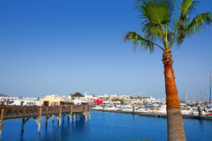 Lanzarote Marina Rubicon Playa Blanca Stock Photo