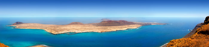 Lanzarote Mirador del rio La graciosa island panoramic Royalty Free Stock Photography