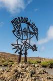 Lanzarote Mirador del Rio - Lanzarote Royalty Free Stock Photography