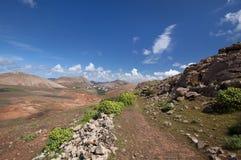 Lanzarote - montañas de Ajaches - rastro en el valle de Femes Fotos de archivo libres de regalías
