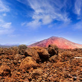 Lanzarote Montana Bermeja red mountain Royalty Free Stock Photo