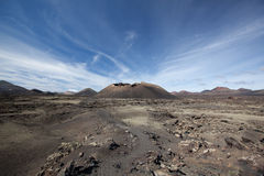 Lanzarote - Montana del Cuervo Foto de archivo libre de regalías